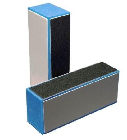 Körömpolírozó buffer 4oldali szürke-kék