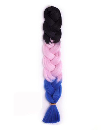 Afroline Rainbow 310 fekete-rózsaszín-kék