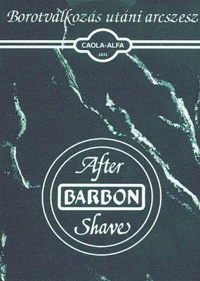 Barbon borotválkozás utáni szesz